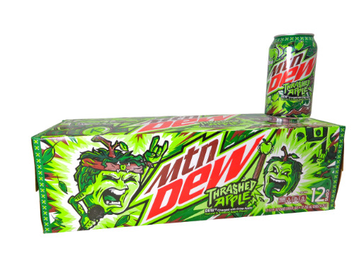 12 pack Mountain Dew Thrashed Apple
