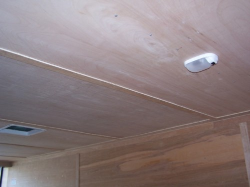 Ceiling:  Wood Luan Ceiling Liner  $10 x Trailer Length