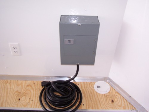 Add a Second Breaker Box with a 60 AMP Plug (no lights or outlets included)