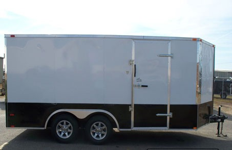 "Add 24"" Colored Metal Sides and Rear for Trailer"