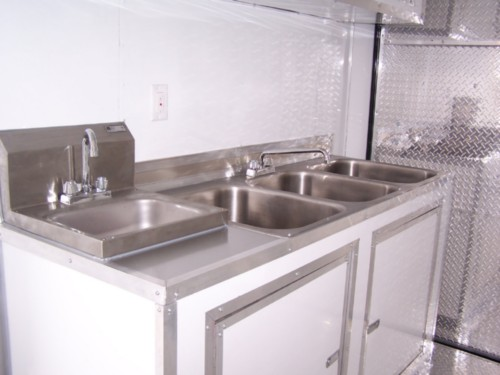 Deluxe Concession Triple Sink with Hand Wash Sink