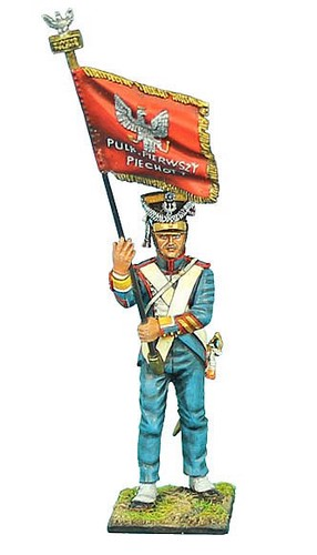 First Legion NAP0352: Polish 1st Line Infantry Standard Bearer