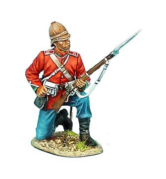First Legion ZUL006: British 24th Foot Kneeling Loading