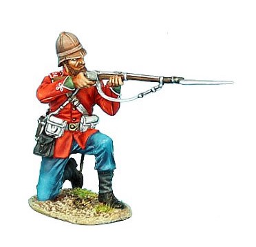 First Legion ZUL015: British 24th Foot Kneeling Firing Variant #2