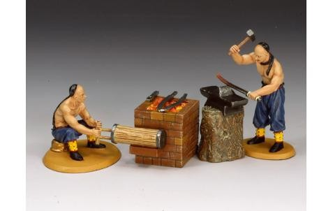 King and Country IC034: Chinese Armourer Set (2 figures + accoutrements)