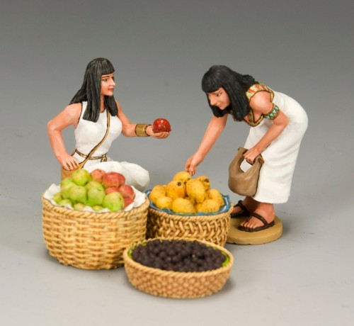King and Country AE044: The Fruit Seller Set 2 + 2 Fruit baskets