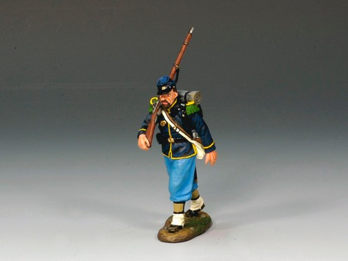 King and Country CW035: Union Rifleman Marching/Advancing to the Front - RETIRED