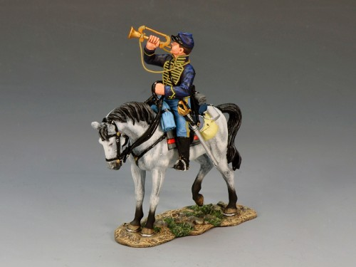 King and Country CW060: Union Bugler Mounted on a Standing Horse - RETIRED