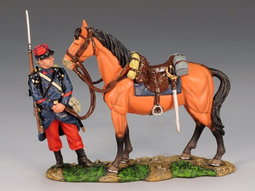 King and Country FW067: Poilu attending to a General's Horse - RETIRED
