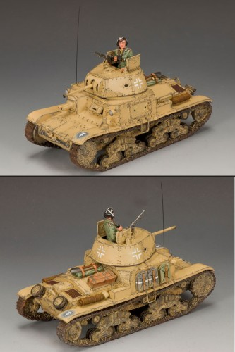 King and Country AK075: Afrika Korps Carro Armato M13/40 Tank - RETIRED
