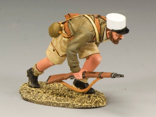 King and Country EA052: Free French Foreign Legionnaire Running with Rifle