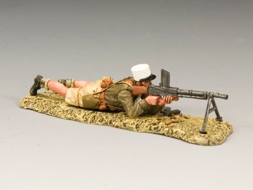 King and Country EA055: Free French Foreign Legionnaire Lying Firing Machine Gun