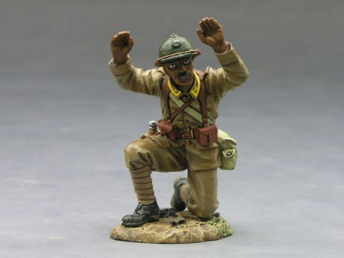 King and Country FOB035: Senegalese Kneeling - Hands Up - Surrendering - RETIRED