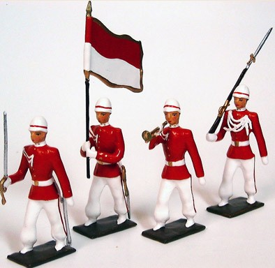 Mignot 157D: Indonesian Presidential Guard -Colour Party INF5