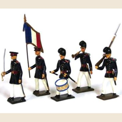 Mignot 079: French Foreign Legion 1831 blue/red: O, F, B + 9 rifles - page 189 INF12