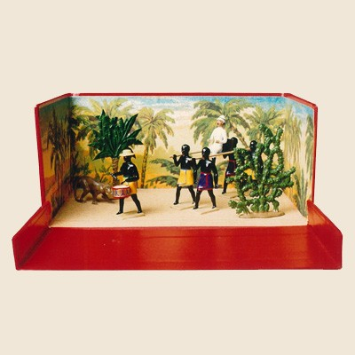 Mignot 576: La Filanzane: French Colonial Officer carried in a Sedan Chair DIO