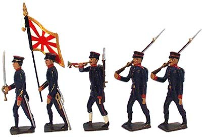 Mignot 098: Japanese Infantry 1907 Black: O,F,D,B + 8 rifles - page 94 INF12