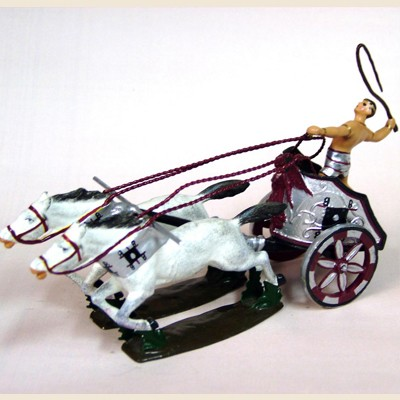 Mignot 0802 - Chariot of Nero - with 4 horses and diorama box - DIO