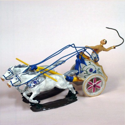 Mignot 0806 - Chariot of Cicero - with 4 horses and diorama box - DIO