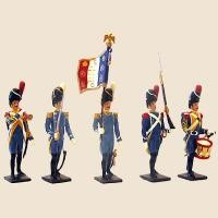 Mignot 041: 1st Regiment Isembourg 1812: O, F, D, + 9 rifles INF12