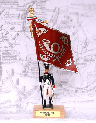 Mignot 928 - FLAG - Chasseurs a pied 1812 - Boxed - P. 178 - INF1 - SOLD OUT