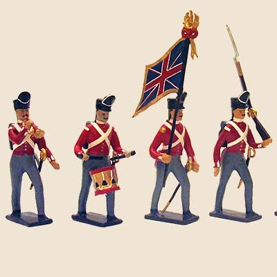 Mignot 044: English Infantry 1812 Colour Party: O, F, B, + 2 rifles - page 57 INF5 - SOLD OUT