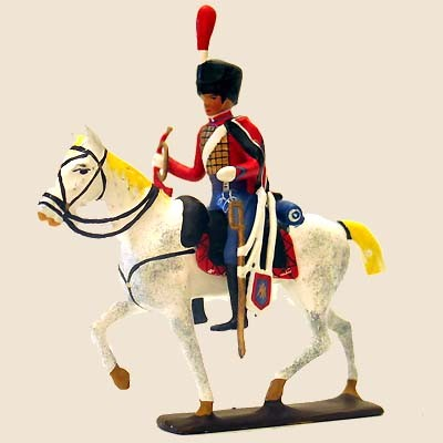 Mignot 739 - Mounted Trompette de Hussards - Boxed - CAV1