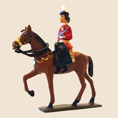 Mignot 672: Queen Elizabeth II Mounted - boxed CAV1