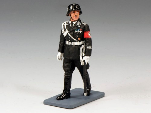 King and Country LAH138: Walking Sepp Dietrich in a Black SS Parade Uniform with Helmet
