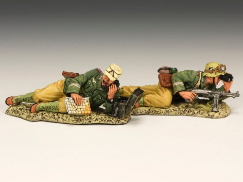 King and Country AK082: Africa Korps 2 Man Observation Team - Prone