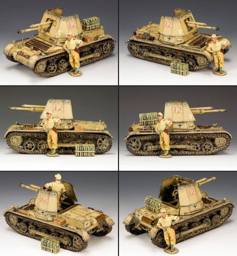 King and Country AK084: Afrika Korps Panzer Jager I Tank Set