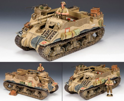 King and Country EA058: M7 Priest Tank with Commander