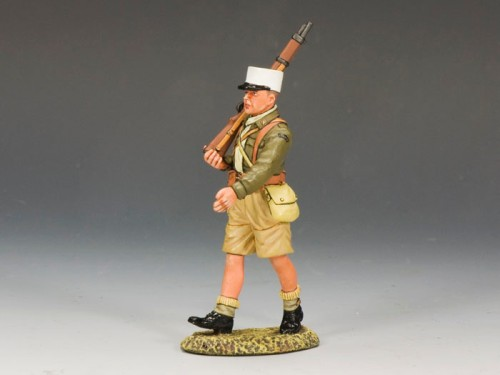 King and Country EA063: Free French Foreign Legionnaire Marching with Rifle