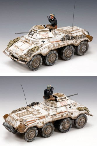 King and Country BBG048: Sd. Kfz.234/1 Schwerer Panzerpahwagen with Commander
