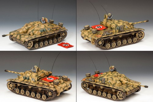 King and Country BBG049: Stug. III Ausf. G Tank with Commander - RETIRED
