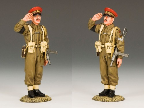 """King and Country DD155: Saluting British """"Red Cap"""" M.P."""
