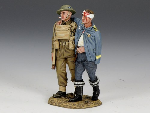 King and Country FOB078: Wounded German Pilot Prisoner with his Tommy Guard (2)
