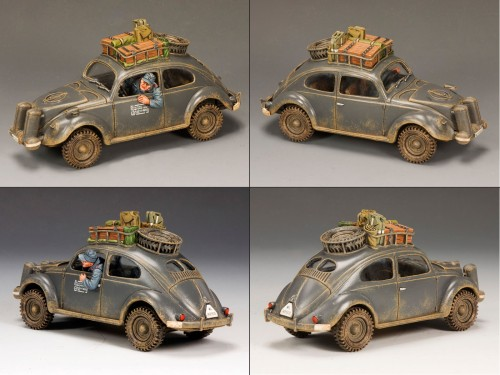 King and Country LW043: RARE - Only 250 Made - Luftwaffe Volkswagen - RETIRED