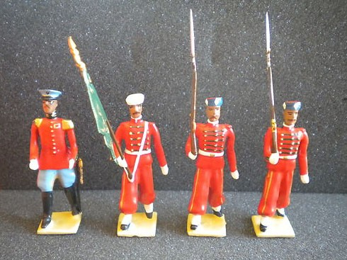 Mignot 154: Morocco Garde Royale; O, F, D, + 9 Rifles INF12