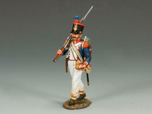 King and Country NA232: French Line Marching Rifleman (right shoulder)