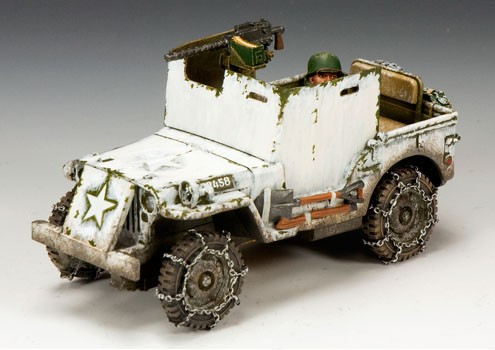 King and Country BBA050: US Armored Jeep - Winter Version - with Driver