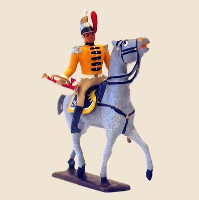 Mignot 740 - Mounted Trompette de 12th Cuirassiers - Boxed - CAV1