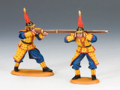 King and Country IC041: Imperial Match Lock Gun Team A