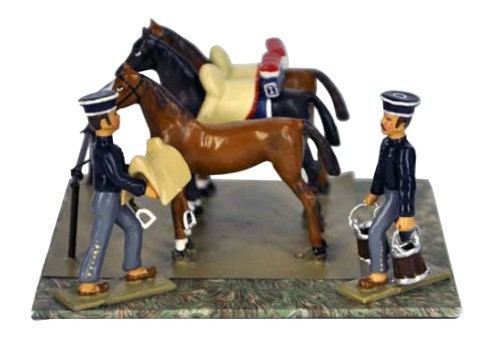 Lucotte S04 - Horses at Bivouac - INF2/CAV3