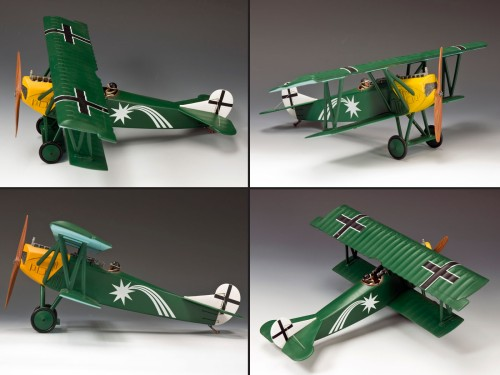 King and Country FW113 - Fokker DVII O/Leut Harald Auffarth Jasta 29 LE - ONLY 150 PRODUCED!