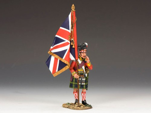 King and Country NA214: Gordons Highlanders Officer with the Kings Colour