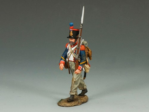 King and Country NA234: French Line Marching Rifleman (w/ beard)