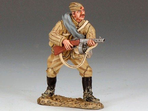 King and Country RA018: Red Army Soldier Firing from Waist