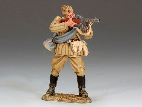 King and Country RA021: Red Army Soldier Standing Firing