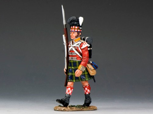 King and Country NA241: 92nd Highlanders Marching w/Rifle - SOLD OUT